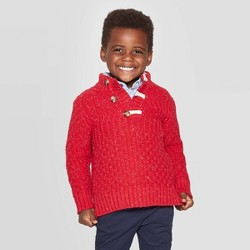 Toddler Boys' Shawl Collar Pullover Sweater - Cat & Jack™ Red