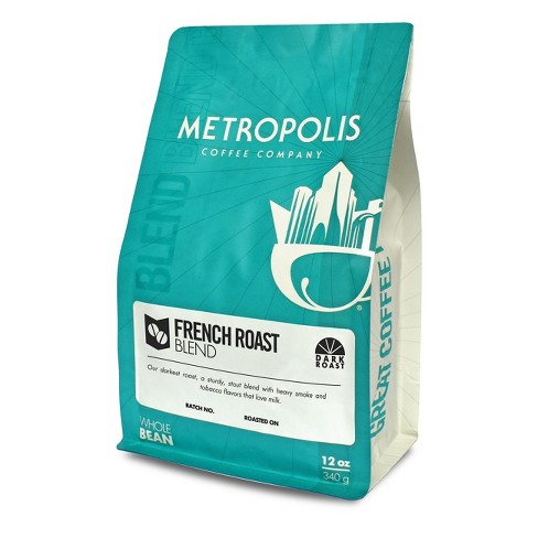 Metropolis Coffee French Roast Dark Roast Whole Bean Coffee - 12oz - image 1 of 4
