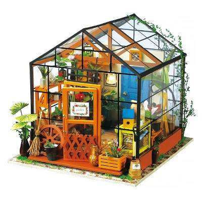 Hands Craft DIY 3D Wooden Puzzles - Miniature House: Cathy's Flower House