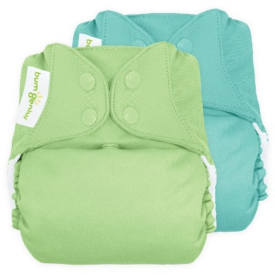 BumGenius All-in-One Snap Reusable Diaper, One Size - Mirror/Grasshopper