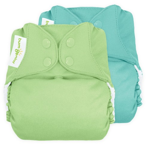 BumGenius All-in-One Snap Reusable Diaper, One Size - Mirror/Grasshopper - image 1 of 1