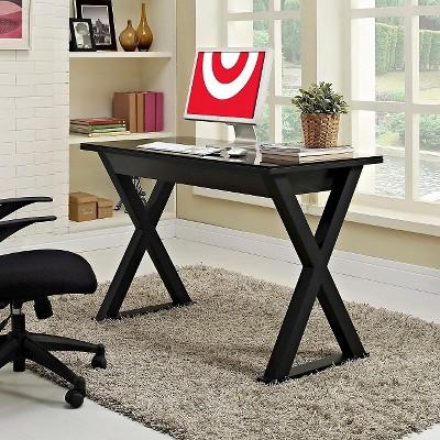 Glass Writing Desk With Drawers - Saracina Home : Target