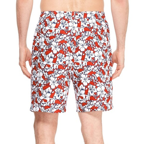 7aa93e0da8 Men's Hibiscus Whale Swim Trunks - Red/Navy - Vineyard Vines® For Target :  Target
