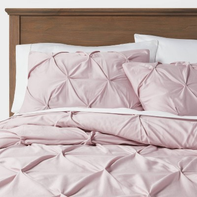 Full/Queen Pinch Pleat Comforter & Sham Set Mauve - Threshold™
