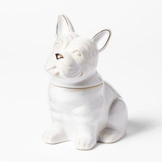 Cravings by Chrissy Teigen French Bulldog Cookie Jar White