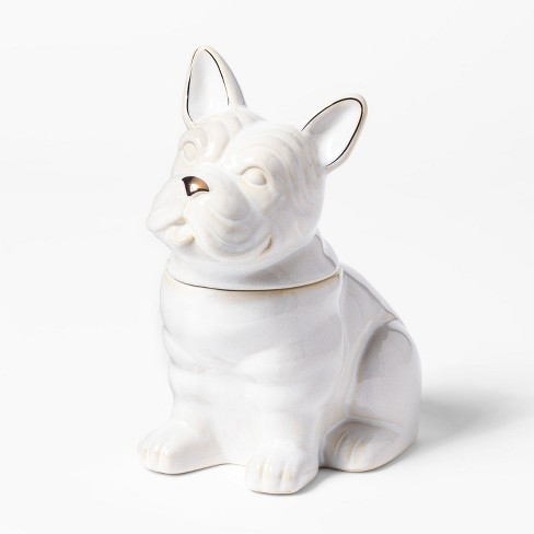 Cravings by Chrissy Teigen French Bulldog Cookie Jar White - image 1 of 2