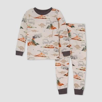 Burt's Bees Baby® Toddler Boys' 2pc Volcano Snug Fit Pajama Set - Gray 2T