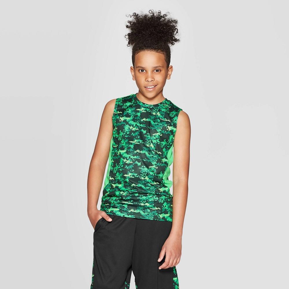 Image of Boys' Camo Print Sleeveless T-Shirt - C9 Champion Green XS, Boy's