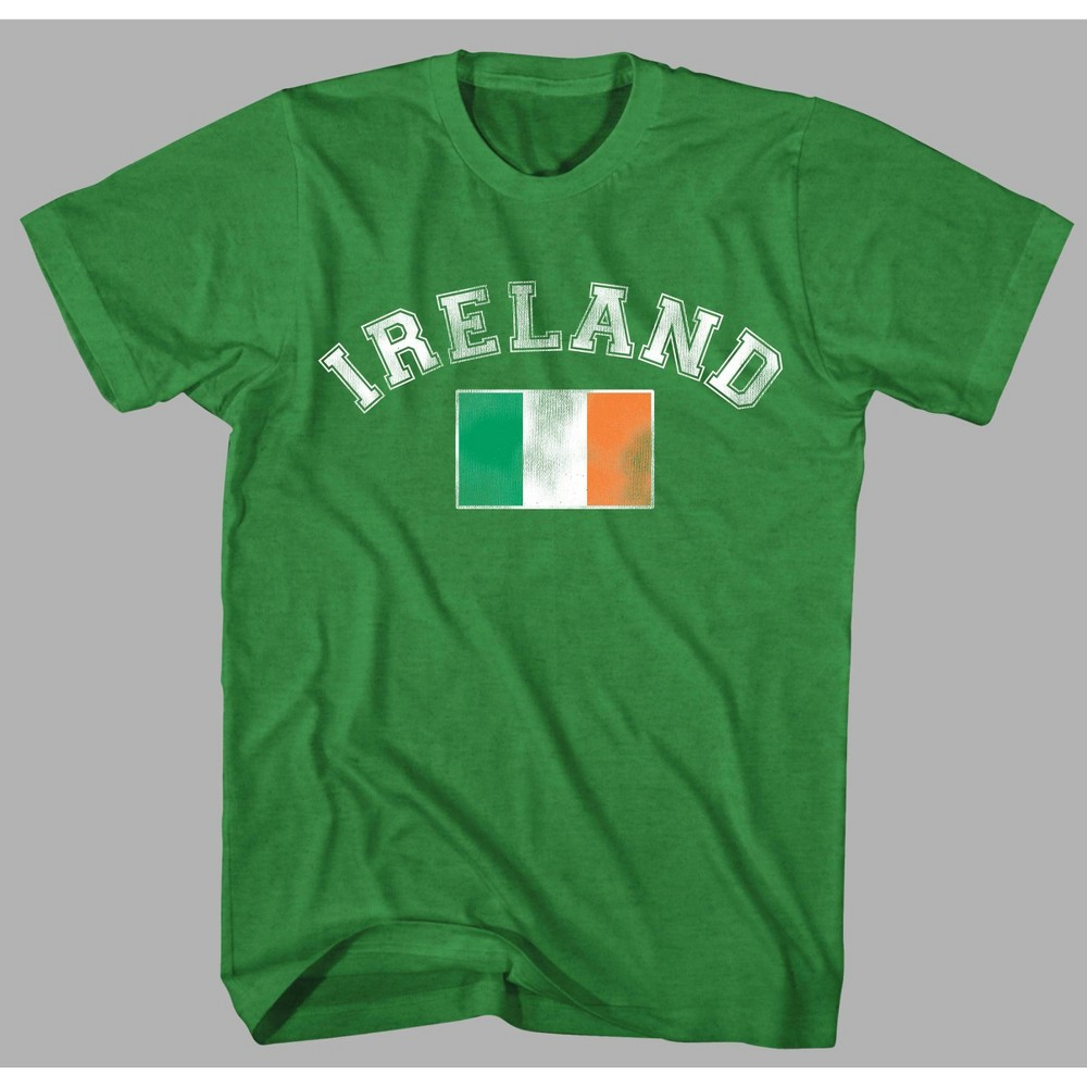 Image of Men's Ireland Flag Short Sleeve Graphic T-Shirt - Green 2XL, Men's