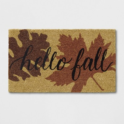 1'6 X2'6  Leaf Tufted Doormat Orange - Threshold™