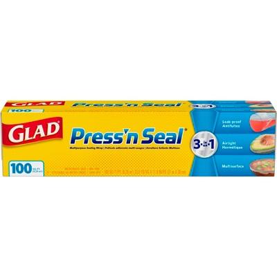 Glad Press'n Seal Plastic Food Wrap - 100 Square Foot Roll