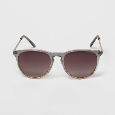 Women's Two-Tone Gradient Metal Round Sunglasses - A New Day™