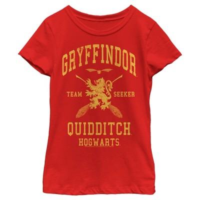 Girl's Harry Potter Gryffindor Quidditch Gold Team Seeker T-Shirt