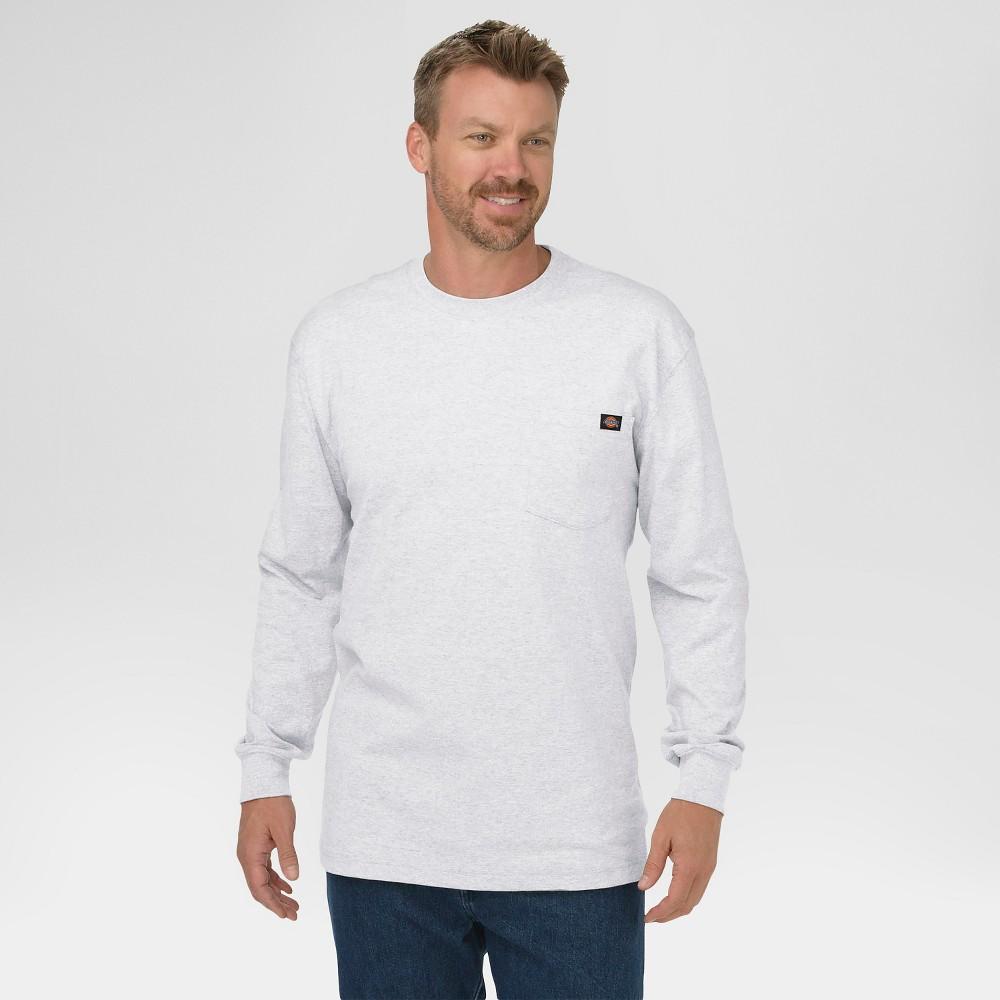 Dickies Men's Big & Tall Cotton Heavyweight Long Sleeve Pocket T-Shirt- Ash Gray Xxxl Tall