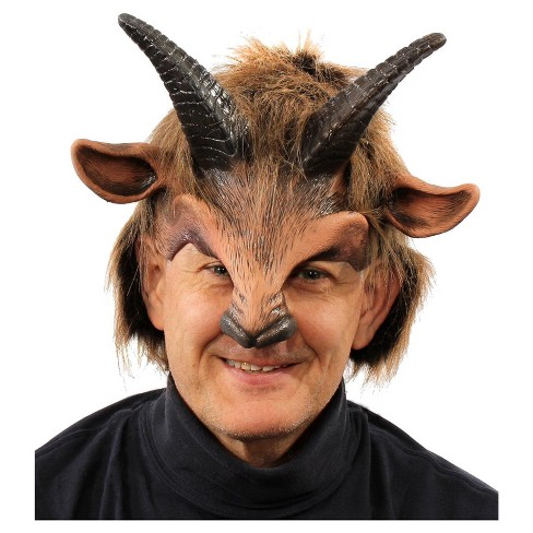 Goat Boy Half Mask with Horns - image 1 of 1