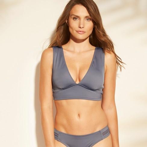 377ea5ae3b10 Women s Mesh Inset Midkini Bralette Bikini Top - Shade   Shore™ Dusty Blue    Target
