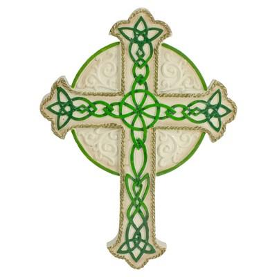 "Roman 7.75"" St. Patrick's Day Religious Irish Wall Cross"