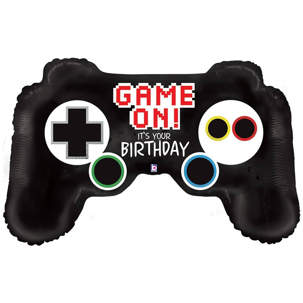 Game Controller Jumbo Foil Balloon Black Game Controller Jumbo Foil Balloon Black Gender: Unisex. Pattern: Solid.