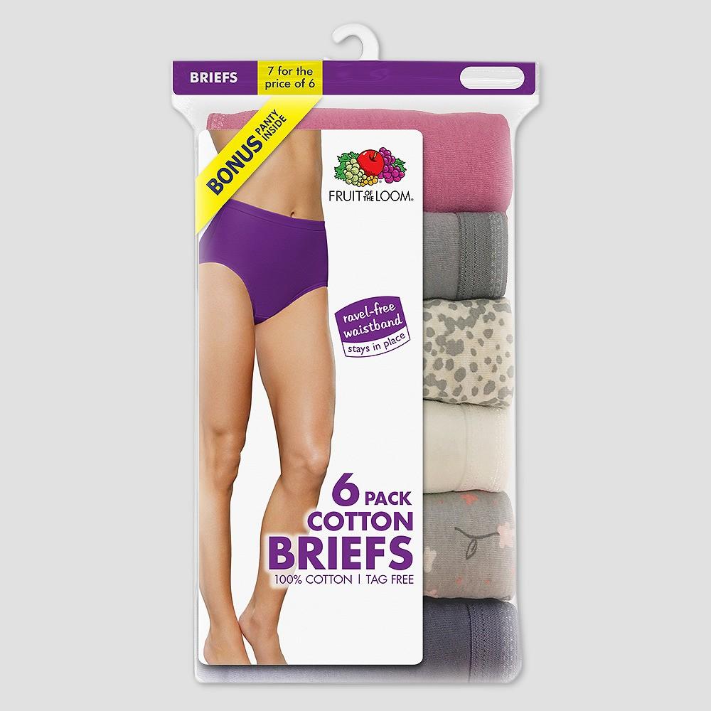 Fruit of the Loom Women's Classic Briefs Bonus 6+1 Pack - 7, Multicolored