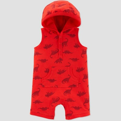 Baby Boys' Dino Print One Piece Romper - Just One You® made by carter's Red Newborn