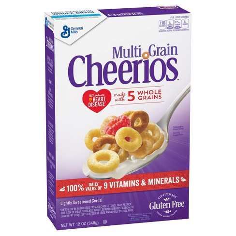 Cheerios Multi Grain Breakfast Cereal - 12oz - General Mills - image 1 of 5