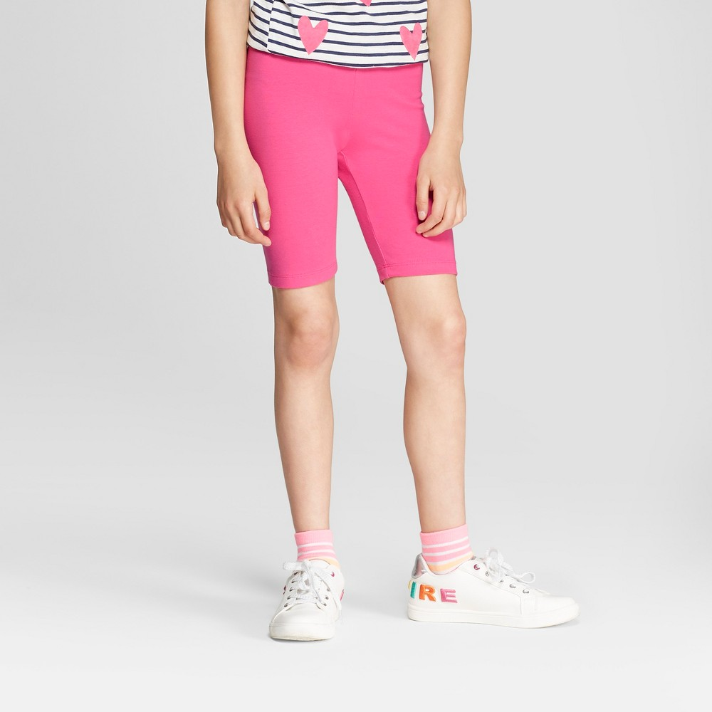 Girls' Bike Shorts - Cat & Jack Pink M