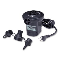 Intex 66619E 120 Volt Quick Fill AC Electric Air Pump with 3 Nozzles, Black
