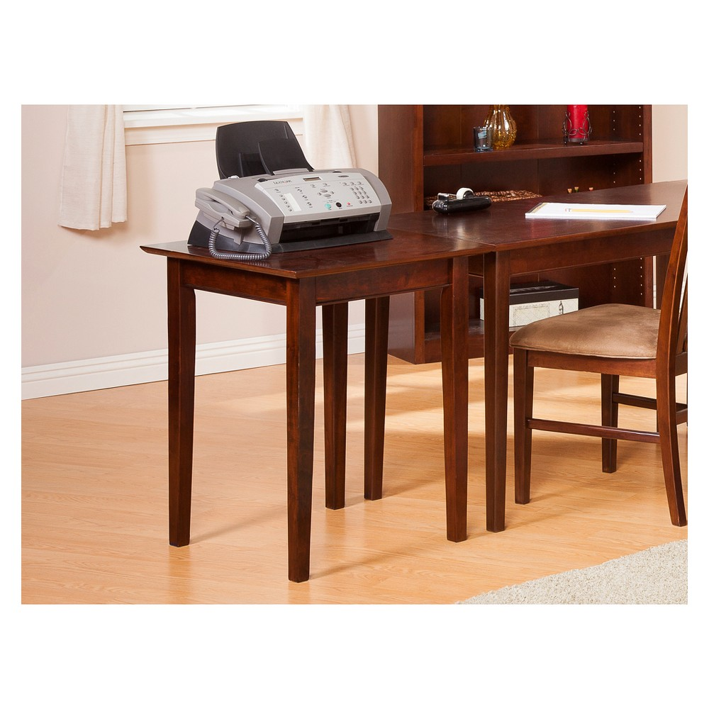 Printer Stand Shaker Style Walnut Brown - Atlantic Furniture Complete your work space with an Atlantic Furniture Shaker Printer Stand. The height and depth are matched exactly to Atlantic Furniture desks and file cabinets, perfect for use as an extended work surface or as a standalone in smaller spaces. Color: Brown.