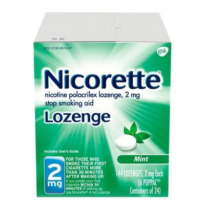 Nicorette 2mg Stop Smoking Aid Nicotine Lozenge - Mint - 144ct