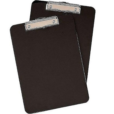 """MyOfficeInnovations Clipboards Black 2/Pack 9"""" x 12"""" 652149"""