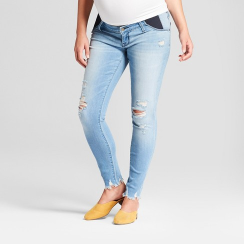 0a198733cd52b Maternity Inset Panel Skinny Jeans - Isabel Maternity by Ingrid & Isabel™  Light Wash