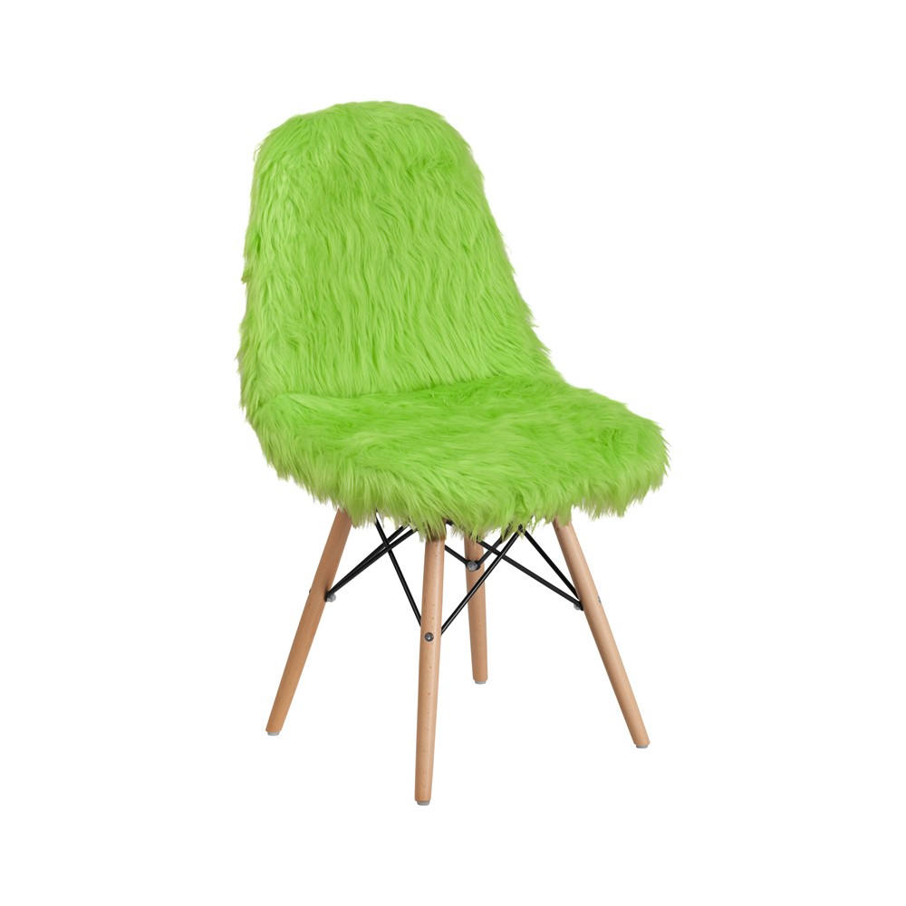 Shaggy Dog Accent Chair Green - Riverstone Furniture