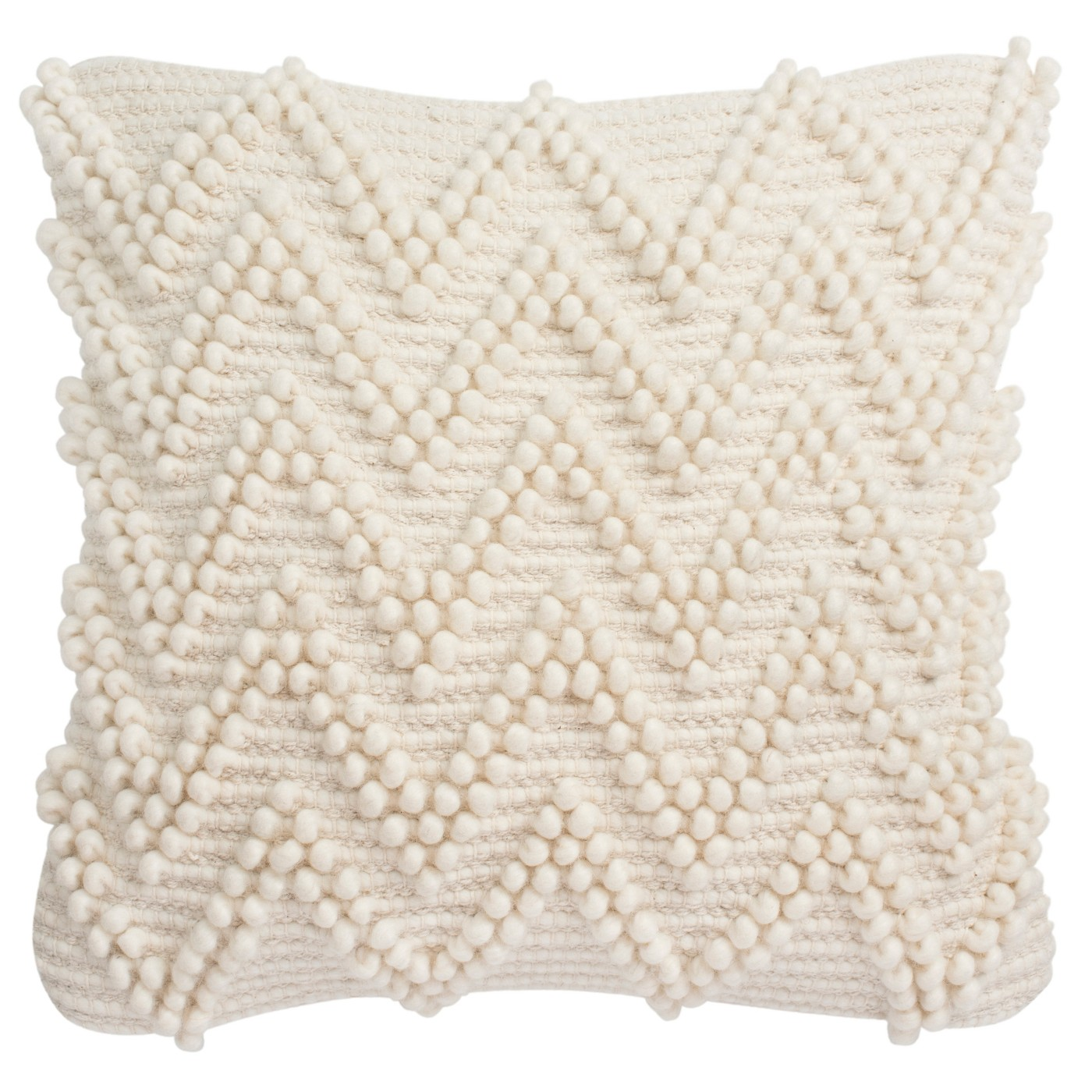Jumbo Chevron Loop Square Throw Pillow Natural - Safavieh - image 1 of 3
