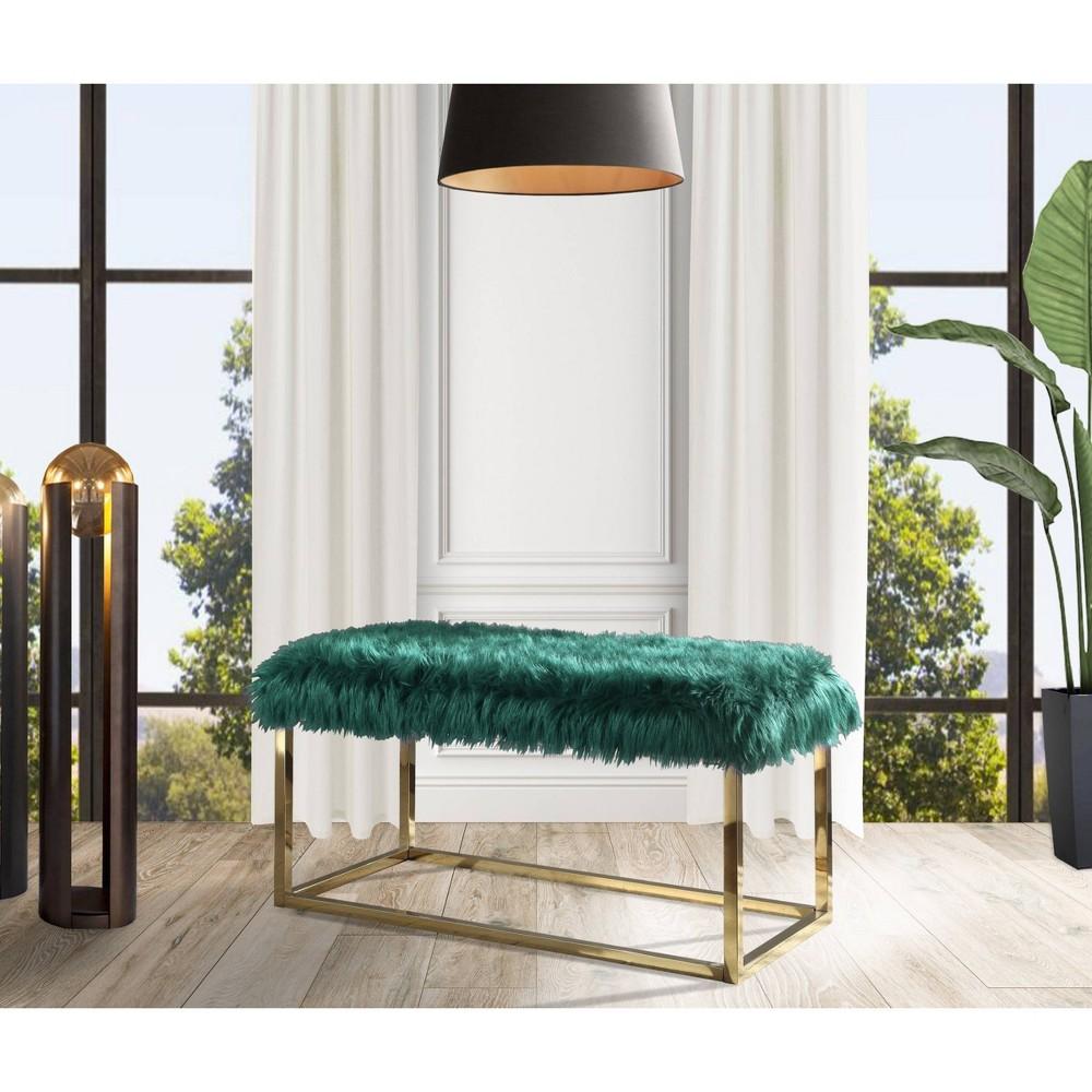 Carolyn Ottoman Bench Green Chic Home Design