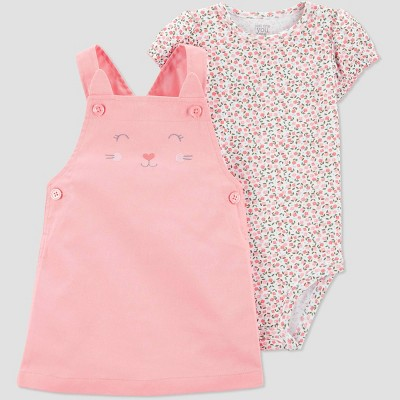 Baby Girls' 2pc Kitten Skirtall Set - Just One You® made by carter's Pink 6M