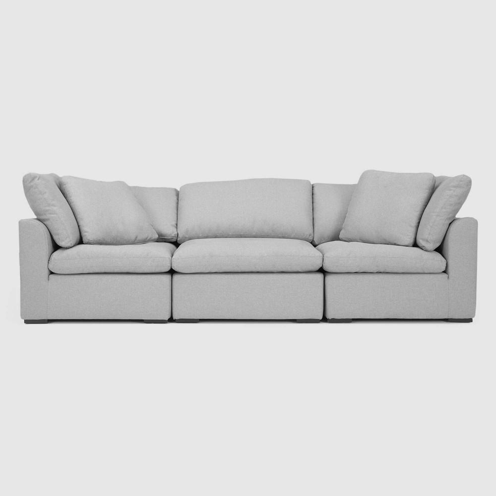 Image of 3pc Aria Sofa Set Gray - RST Brands