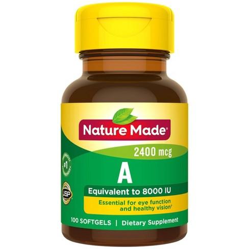 Nature Made Vitamin A 2400 mcg (8000 IU) Softgels - 100ct - image 1 of 3