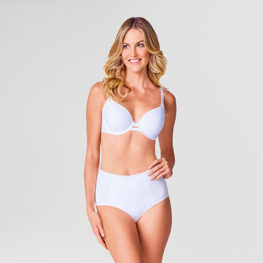 Simply Perfect by Warner's Women's 2pk Cotton Control Briefs - Nude / White M, White/Nude