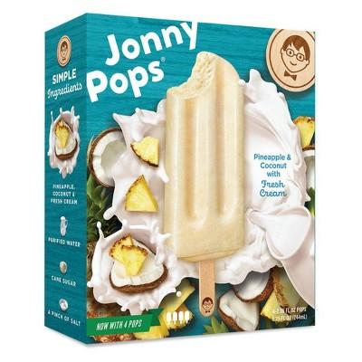 JonnyPops Pineapple Coconut & Cream Frozen Fruit Bars - 4pk/8.25oz