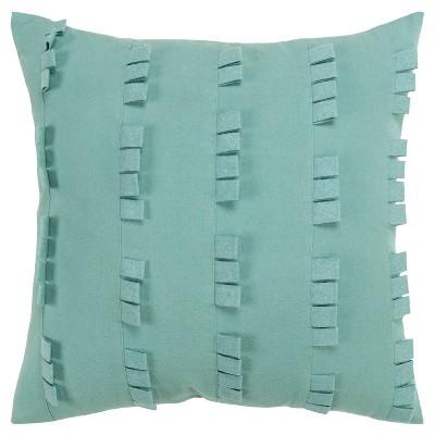 "20""x20"" Oversize Striped Solid Square Throw Pillow Aqua Blue - Donny Osmond Home"