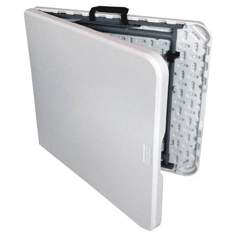 1e6e10c9167 4  Folding Banquet Table Off-White - Plastic Dev Group   Target