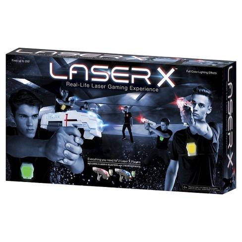 Laser X Two Player Laser Tag Blaster Gaming Set Target
