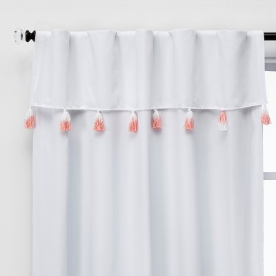 84  Ombre Tassel Valence Blackout Window Curtain Panel Pink - Pillowfort™