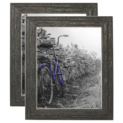 Americanflat Picture Frame - Lead Free Polished Glass for Wall and Tabletop - Offered In Many Sizes & Multipacks - Set of 2