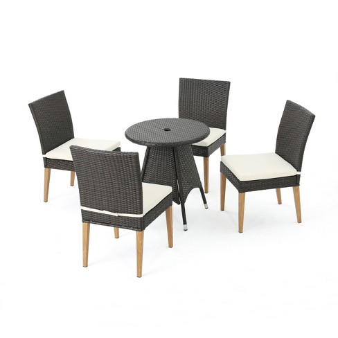 Santa Barbara 5pc Wicker Round Dining Set - Brown - Christopher Knight Home - image 1 of 4
