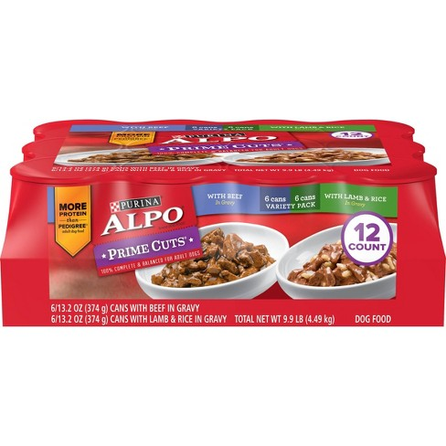 Purina Alpo Prime Cuts Beef & Lamb Recipes Adult Wet Dog Food - 13.2oz/12ct Variety Pack - image 1 of 4