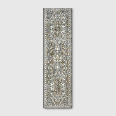 2'X7' Floral Tufted Accent Rugs Gray - Threshold™