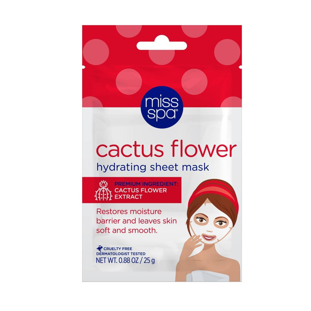 Image of Miss Spa Cactus Flower Sheet Mask - 0.88oz