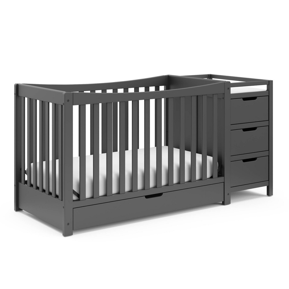 Graco Remi 4-in-1 Convertible Crib And Changer - Gray Best