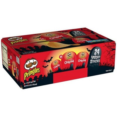 Pringles Halloween Spooky Stacks Original Potato Crisps- 17.3oz/24ct